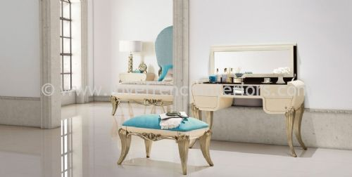Spacium Dressing Table in Blue and Beige